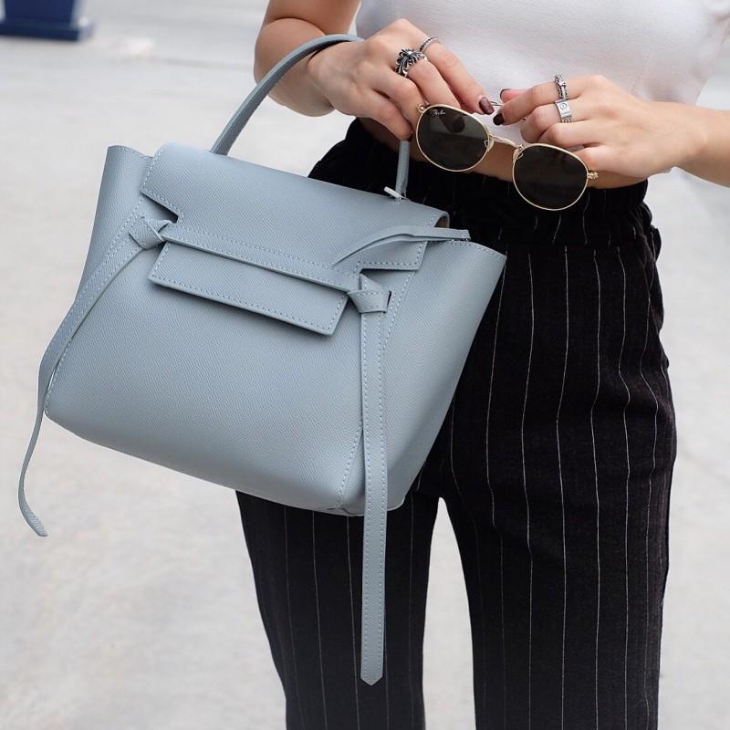 พร้อมส่ง กระเป๋าสะพายข้างผู้หญิง Belt Bag leather (S) [สีน้ำเงิน]
