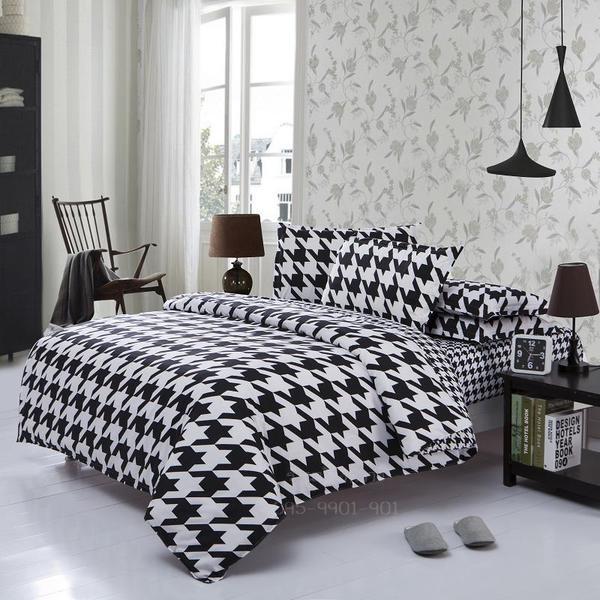 ผ้าปูที่นอน BlackWhite -3