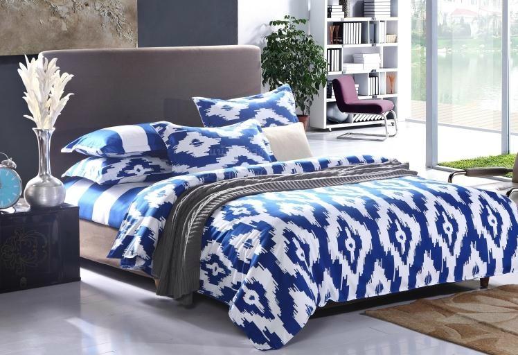ผ้าปูที่นอน BlueWhite -2