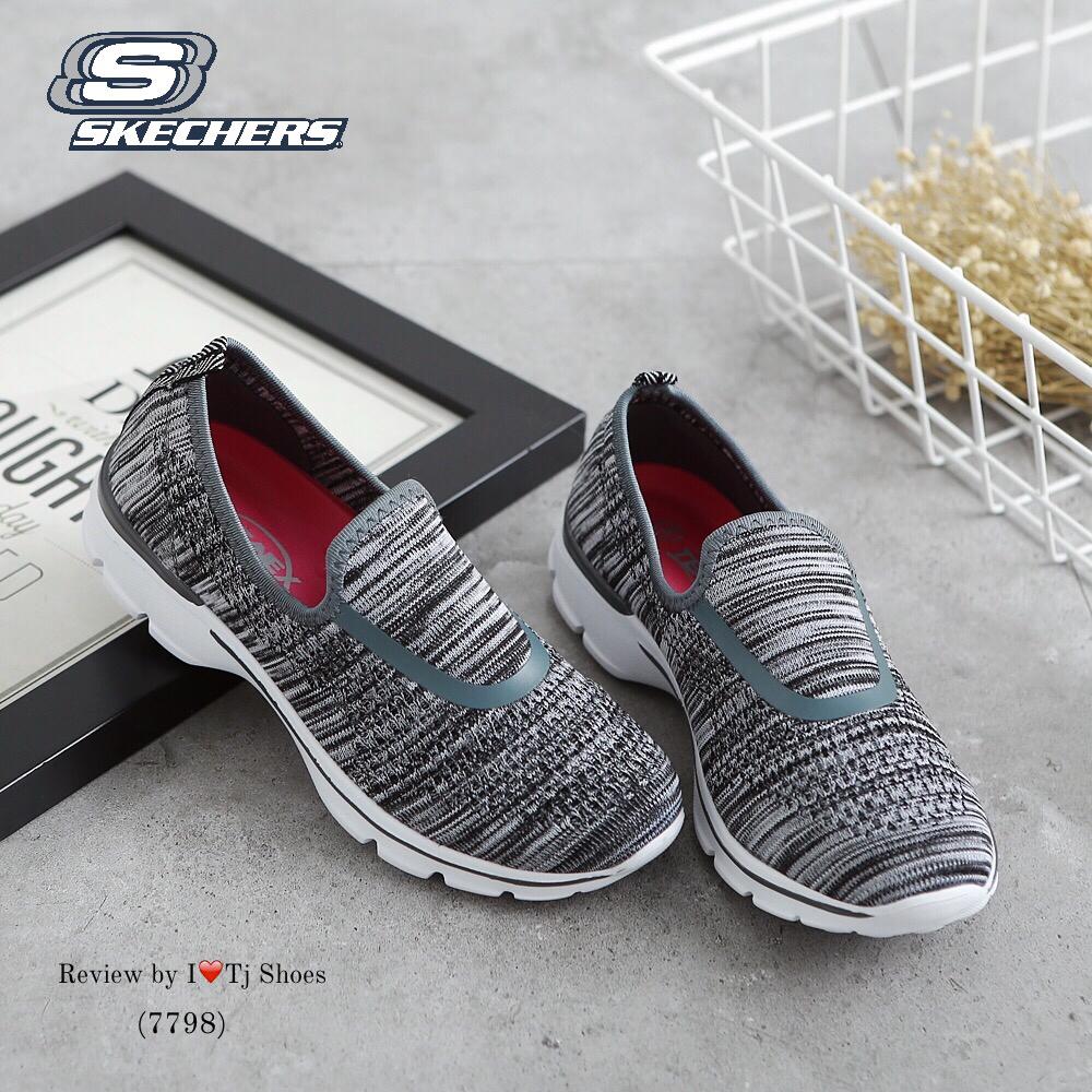 รองเท้าผ้าใบเพื่อสุขภาพ STYLE SKECER(สีเทา)