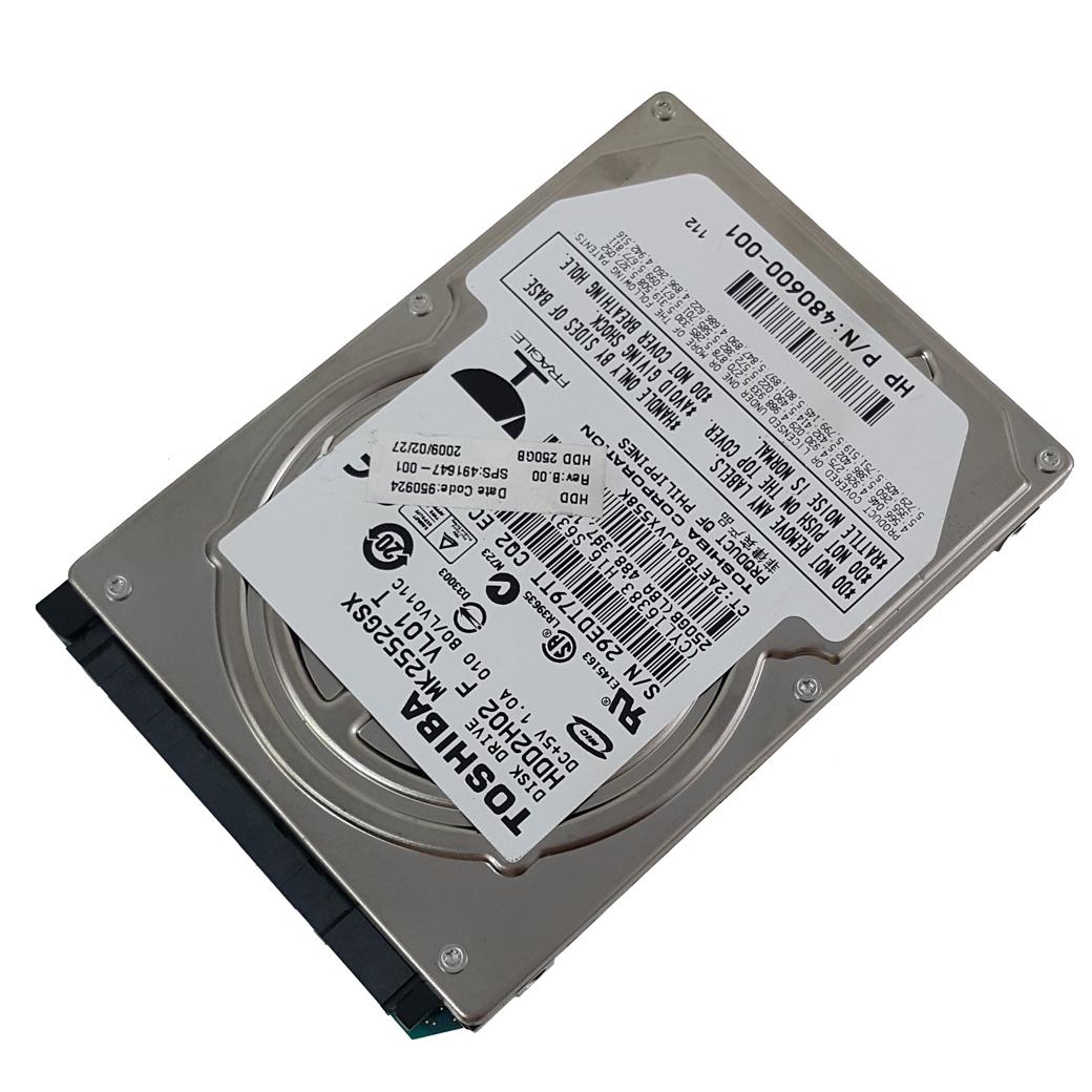 ฮาร์ดดิสโน๊ตบุ๊คมือสอง 250 GB คละยี่ห้อ