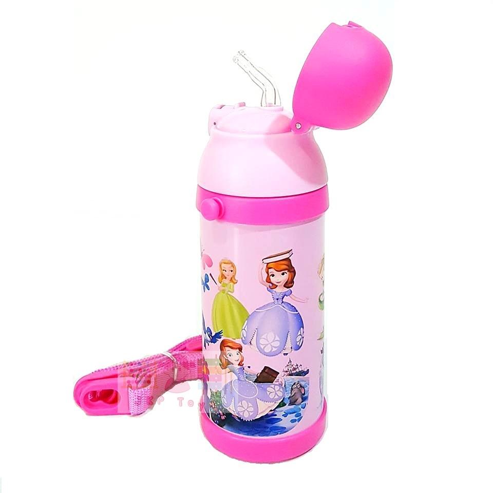 กระติกน้ำสแตนเลสเก็บความร้อน ความเย็น กระติกน้ำสำหรับเด็ก เจ้าหญิงโซเฟีย (ชมพู)