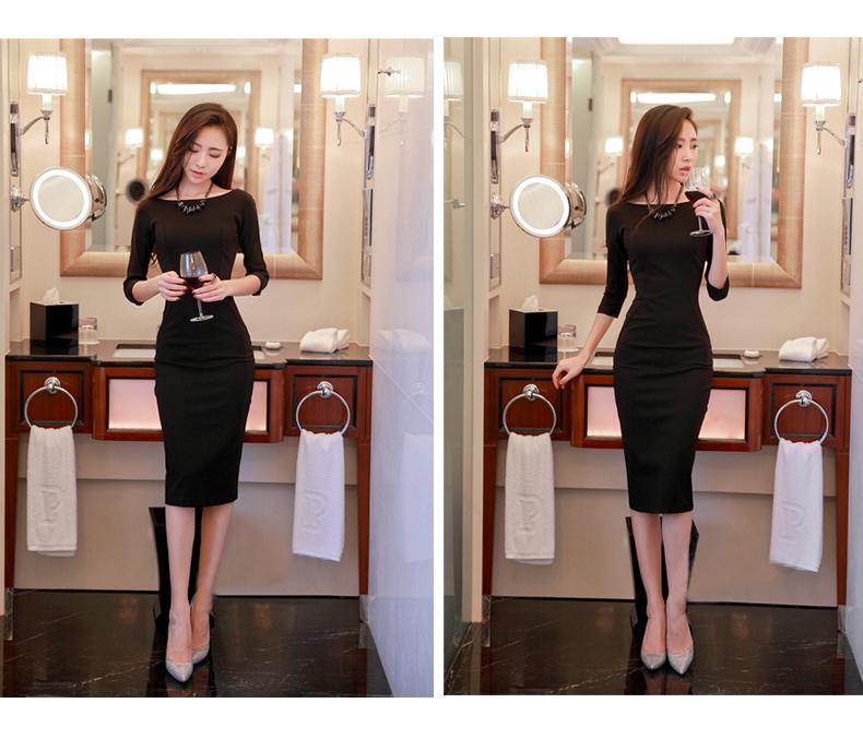 รับตัวแทนจำหน่ายชุดเดรสแฟชั่นเกาหลีสีดำสวยๆ