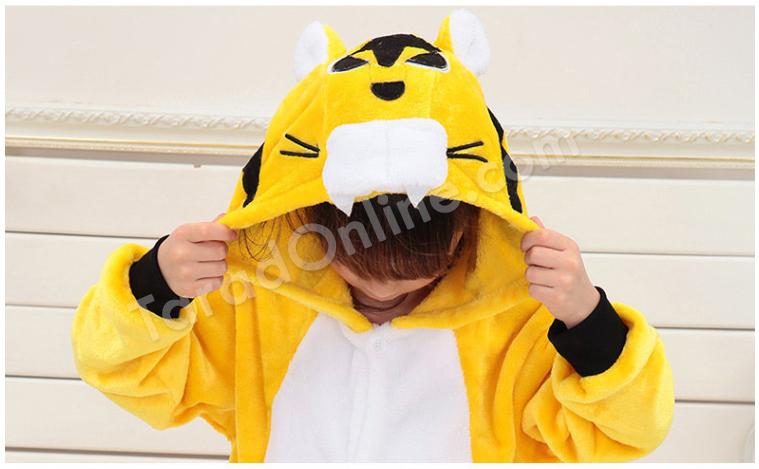 ชุดนอนมาสคอตเด็ก เสือน้อย Size 85 (ขนาด 100 cm - 110 cm)