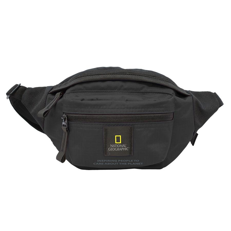 National Geographic Waist Bag - EXPLORER - Black สีดำ