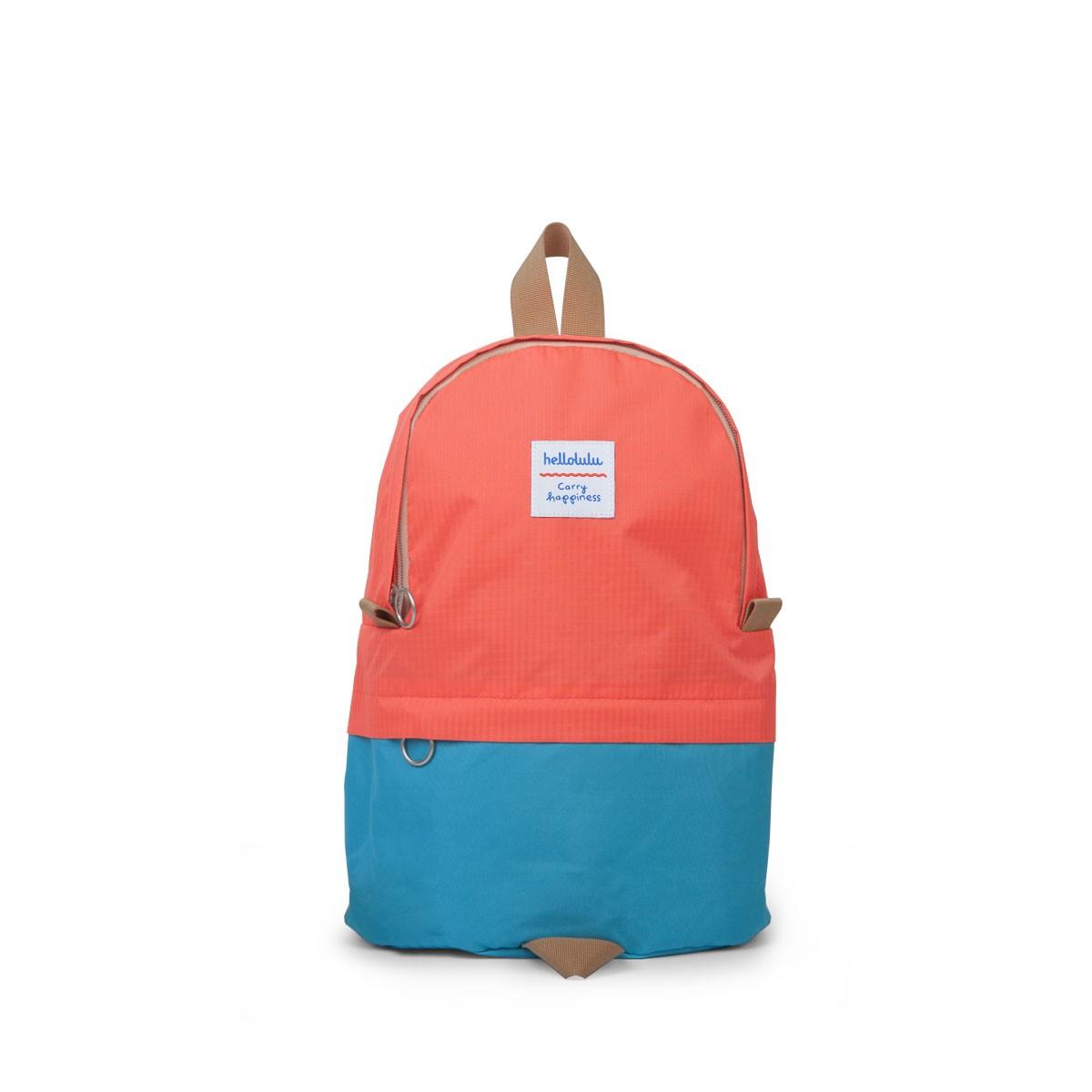 Hellolulu กระเป๋าเด็ก รุ่น PILI - Neon Orange/Light Blue