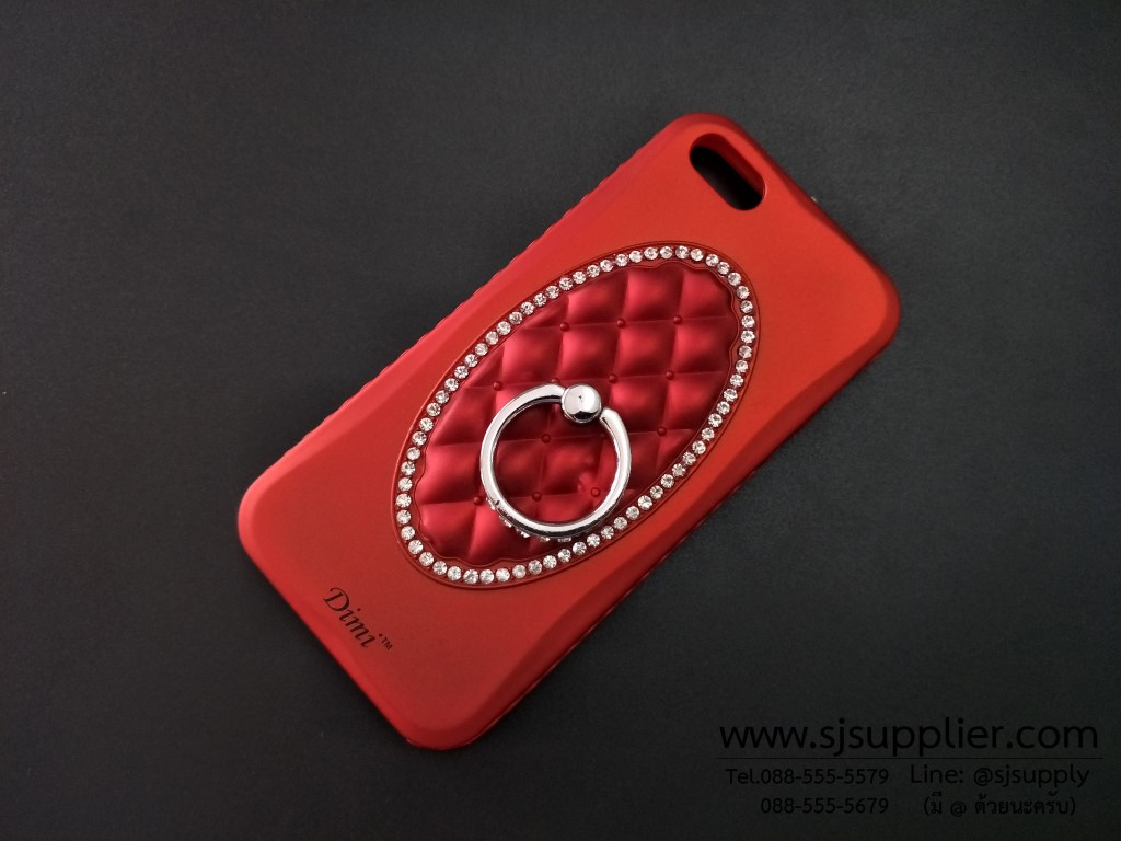 เคส Samsung J7 (2016) แหวนเพชร ตั้งได้ สีแดง BKK