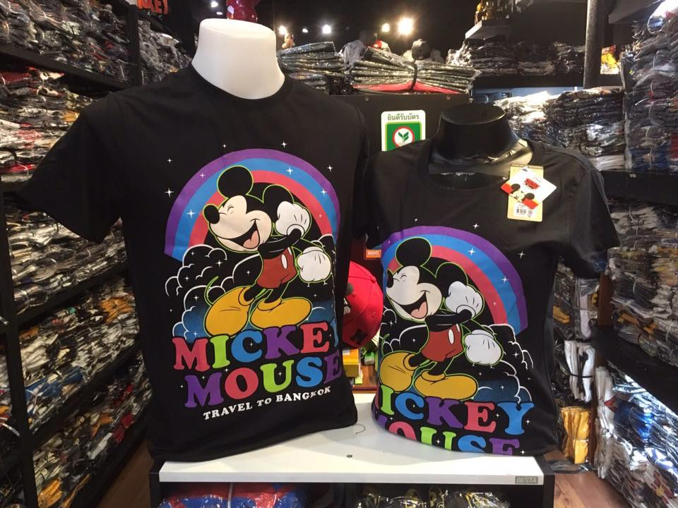มิ้กกี้เมาส์ สีดำ (Mickey rainbow V.2)