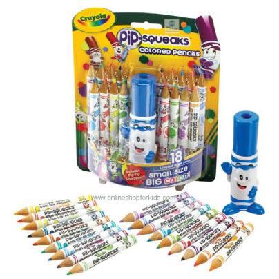 สีไม้ ขนาดมาตราฐาน Crayola Pip-Squeaks Pencils 18 ct.