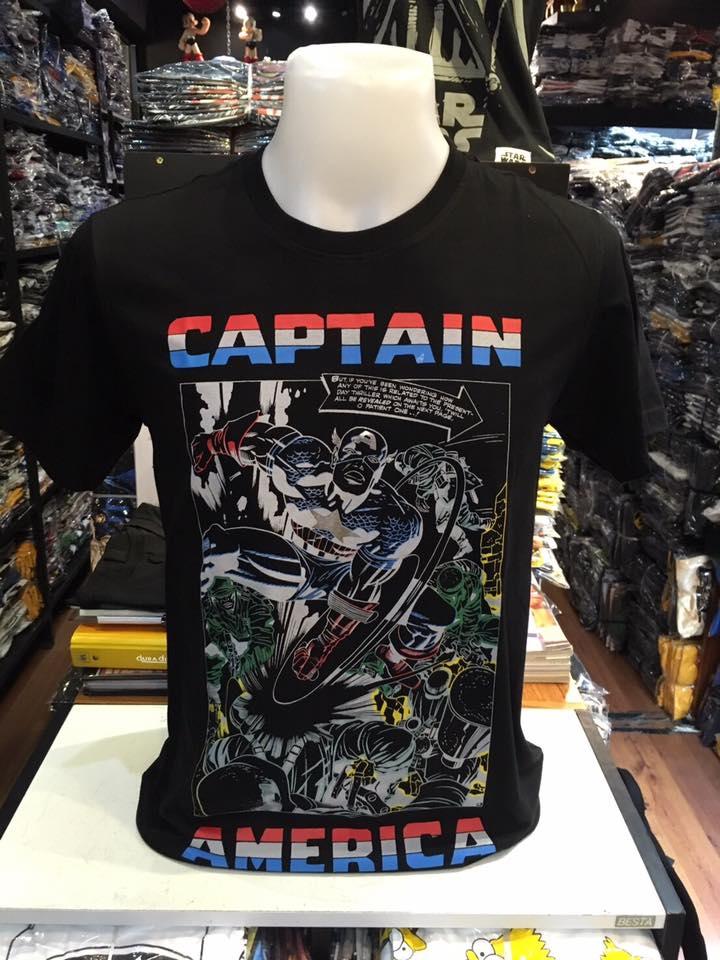 กัปตันอเมริกา สีดำ (Captain square black)