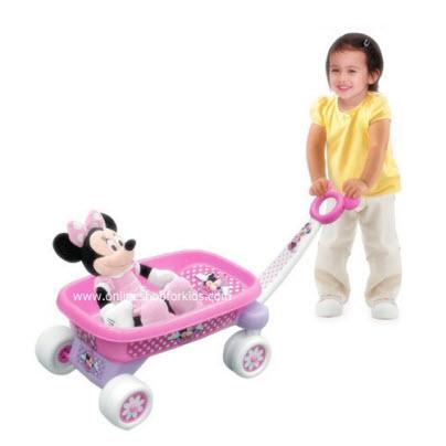 รถลากจูง Disney Cute as a Bow Wagon - Minnie Mouse