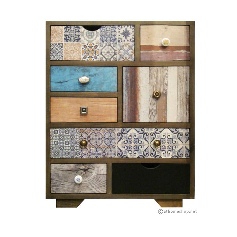 ตู้ลิ้นชักไม้รี-แพทเทิร์น Re-Pattern Cabinet