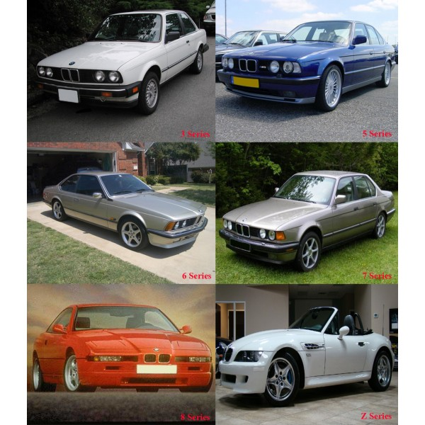 คู่มือซ่อม วงจรสายไฟ (WIRING DIAGRAM) BMW_SERIES Z,3,5,6,7,8 ปี 1982-2001 รหัสสินค้า BM-007