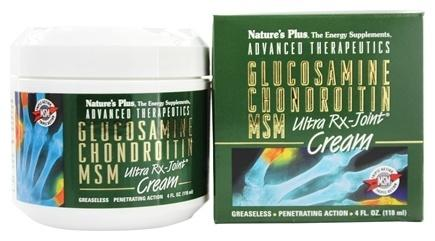 Nature's Plus GLUCOSAMINE CHONDROITIN MSM Ultra RX-Joint Cream 4 oz.(118 ml.)