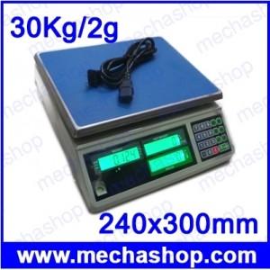 เครื่องชั่งนับจำนวน 30Kg ความละเอียด2g ยี่ห้อ ANEX รุ่น ACS-ZS-30KG Counting Scales 30Kg/2G ขนาดถาดชั่ง 240x300mm
