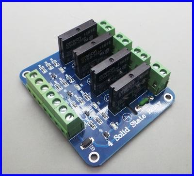 โซลิดสเตตรีเลย์ 4ช่อง 2A OMRON 4 Channel Solid State Relay Module Board SSR AVR DSP 250V