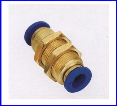 ขั้วต่อลม ข้อต่อลม อุปกรณ์ลม SPM-4 SPM series bulkhead union sraight(จำนวน10ชิ้น)