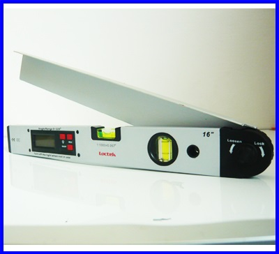 เครื่องวัดองศา เครื่องวัดมุม มิเตอร์วัดมุม มิเตอร์วัดองศาดิจิตอล 360องศา พร้อมระดับน้ำ2ระดับ ขนาด16นิ้ว Loctek Digital Angle Finder & Level 16