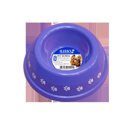 ชามอาหารสัตว์พิมพ์ลาย SLEEKY สำหรับสุนัขและแมว ขนาดเล็ก - ปากชามกว้าง 13 ซม.