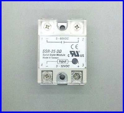โซลิดสเตตรีเลย์ 25A solid state relay SSR-25DD 25A actually 3-32VDC TO 5-60VDC