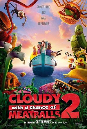 Cloudy With A Chance of Meatballs 2 / มหัศจรรย์ของกินดิ้นได้ / 1 แผ่น DVD (พากษ์ไทย+บรรยายไทย)