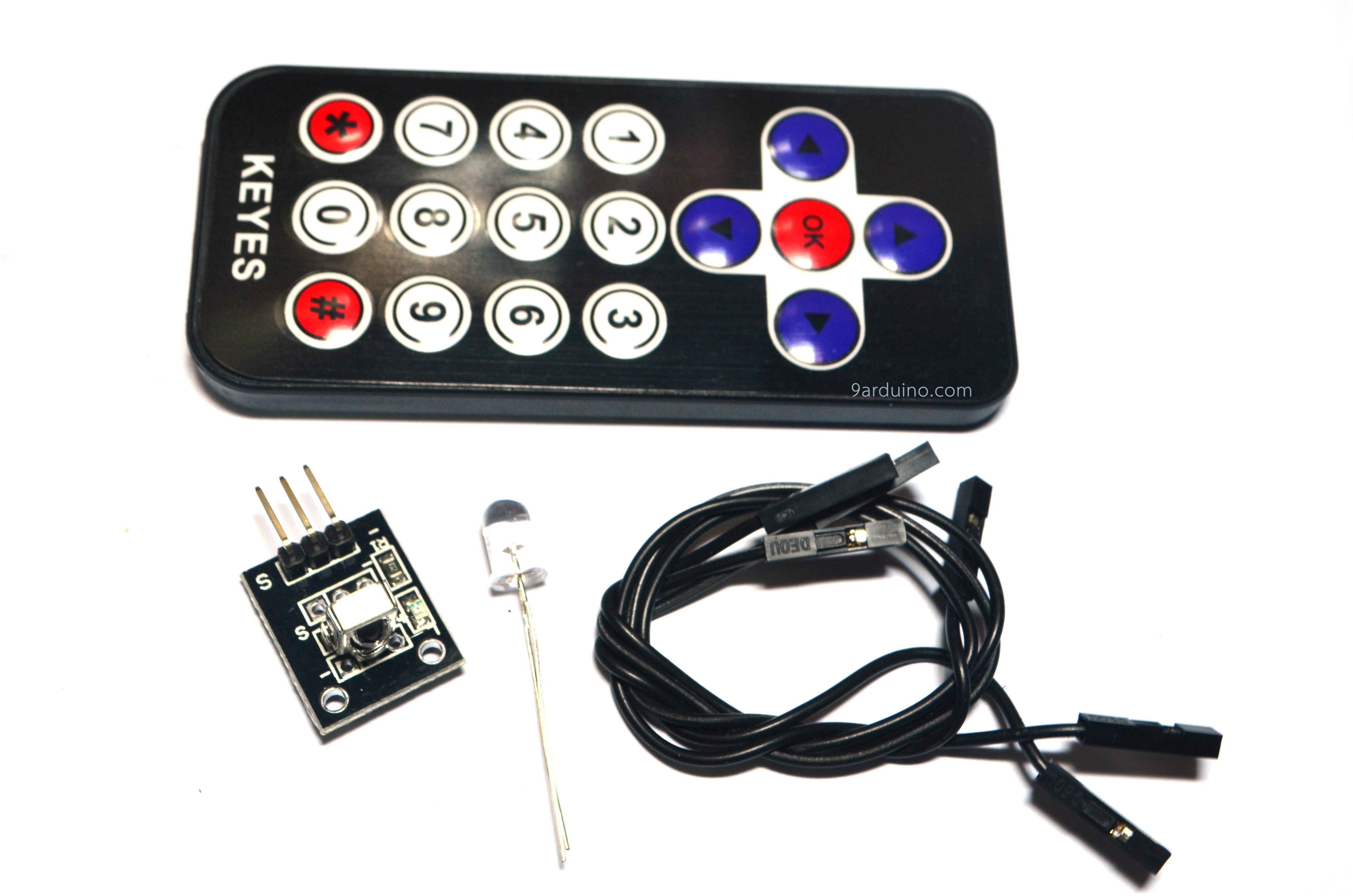 โมดูล รีโมท Infrared Remote Control Kit