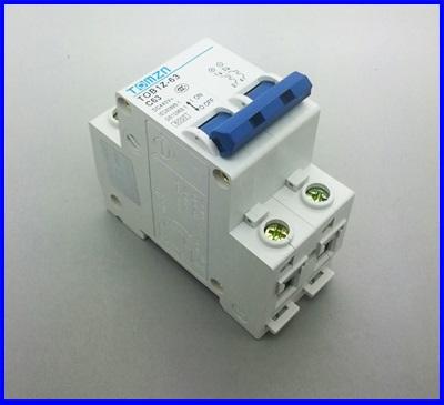 เซอร์กิตเบรกเกอร์ อุปกรณ์ป้องกันไฟฟ้าTOMZN 2P 63A DC 440V Circuit breaker ผ่านมาตราฐาน IEC60947, IEC60898 (เทียบเท่า IEC947.2)