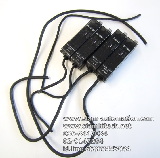 Digital laser sensor ยี่ห้อ Keyence รุ่น LV-51M (มือสอง)