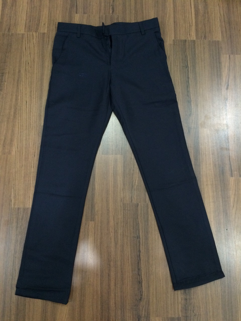 กางเกงนักศึกษา ผ้ากำมะดิน สีดำ(ขนาดเอว 36 นิ้ว)