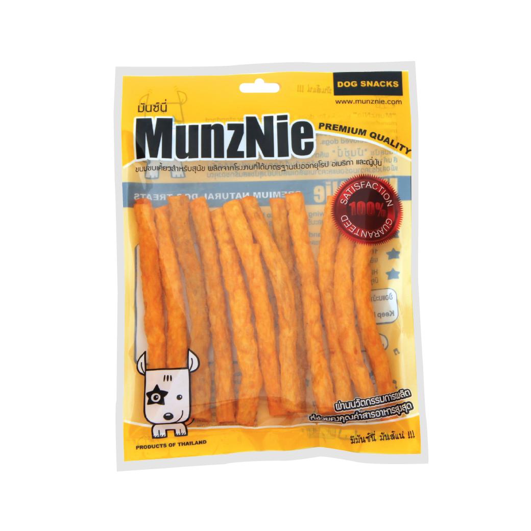 ขนมสุนัข MUNZNIE ครั้นชี่โรลนิ่มแท่ง รสชีส 180g
