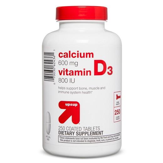 up&up calcium 600 mg vitamin D3 800 IU 250 เม็ด แคลเซี่ยม จากอเมริกาค่ะ