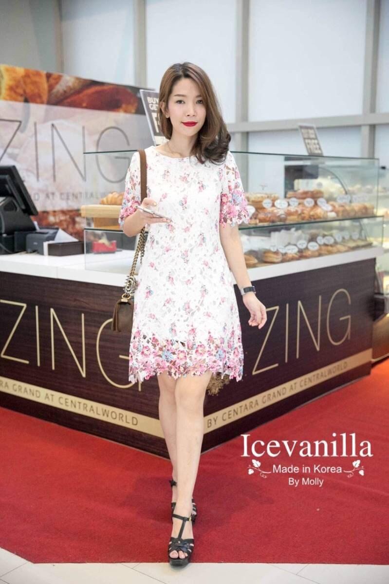 Maria sweet Pink lace Dress