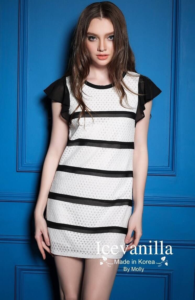 Zara striped lace dress