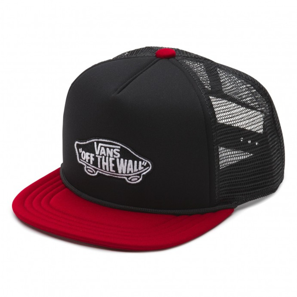 Vans Classic Patch Trucker Hat - Black / Rhubarb