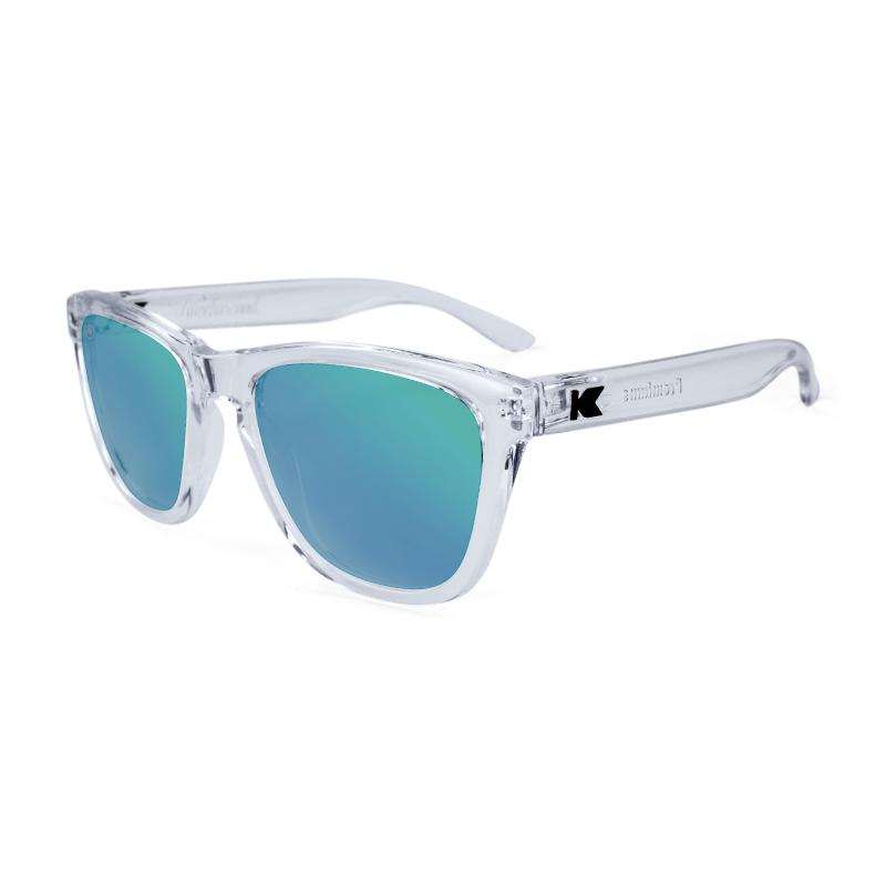 แว่น Knockaround Premiums Sunglasses - Clear / Green Moonshine