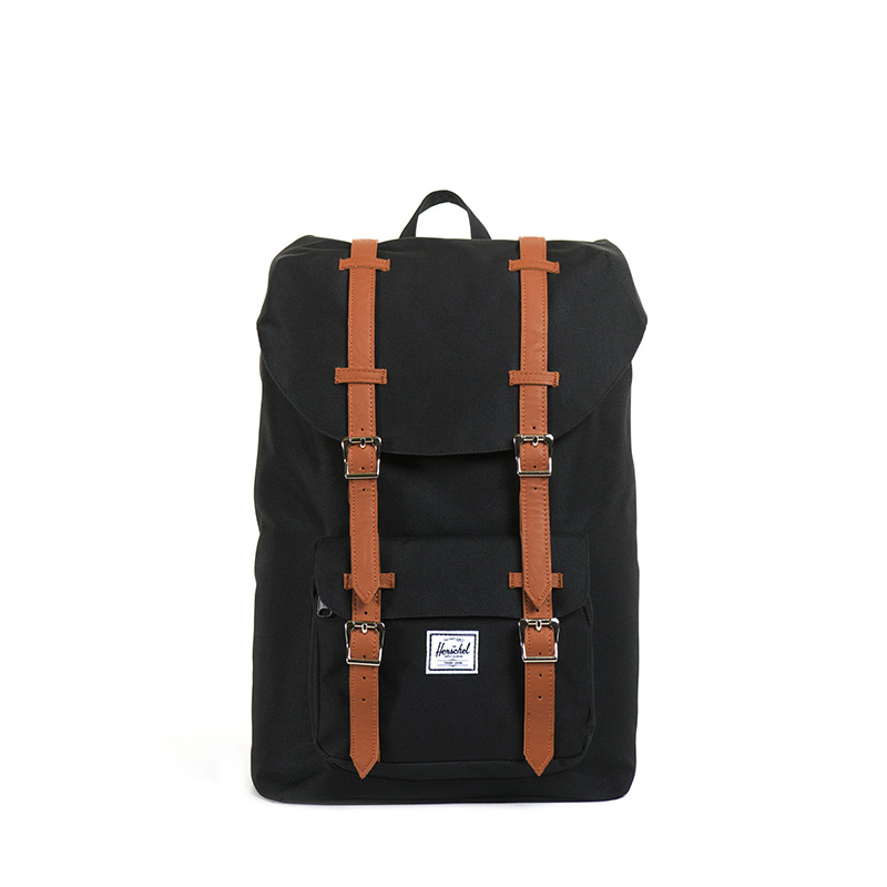 Herschel Little America | Mid Volume - Black/Tan Synthetic Leather