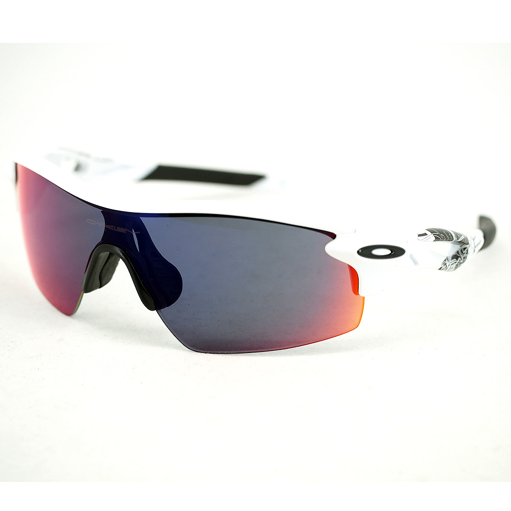 Oakley Radarlock Pitch : White Text / Positive Red Iridium