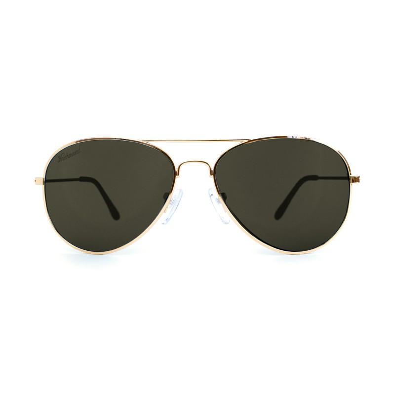 แว่น Knockaround Mile Highs Sunglasses - Gold / Polarized Green