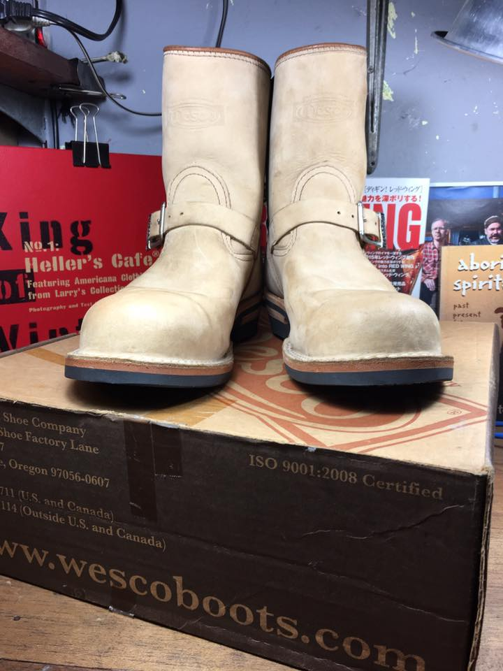 Wesco engineer boot size 9E