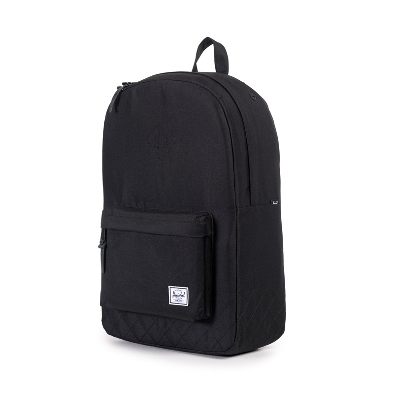 Herschel Heritage Backpack - Black Quilted