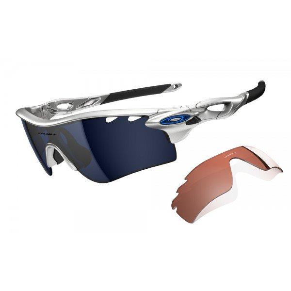 Oakley Radarlock Path : Silver / Ice Iridium Vented + VR28 Vented Lens
