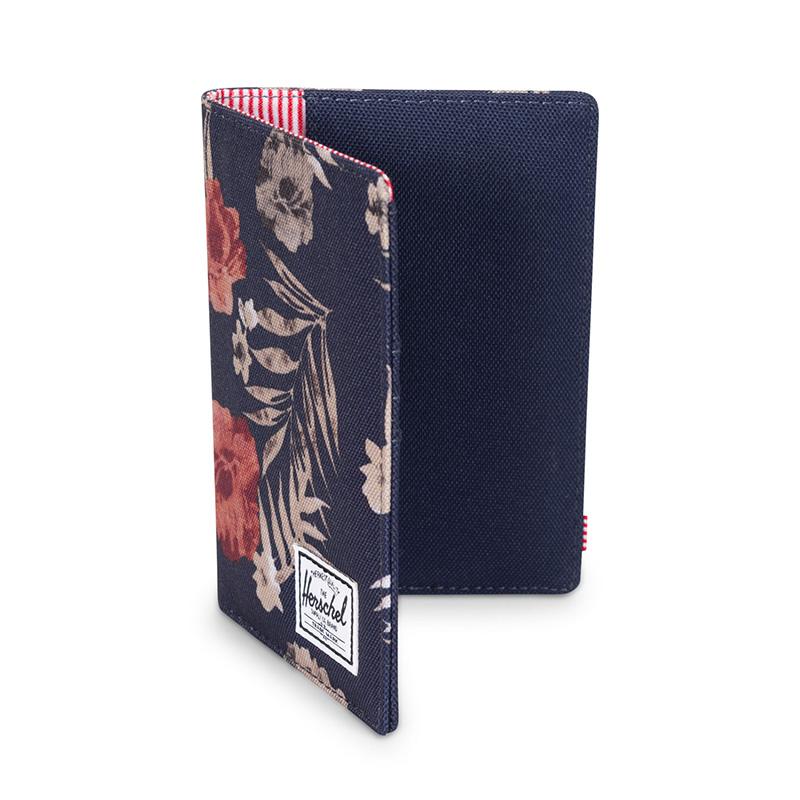 Herschel Raynor Passport Holder - Peacoat Floria
