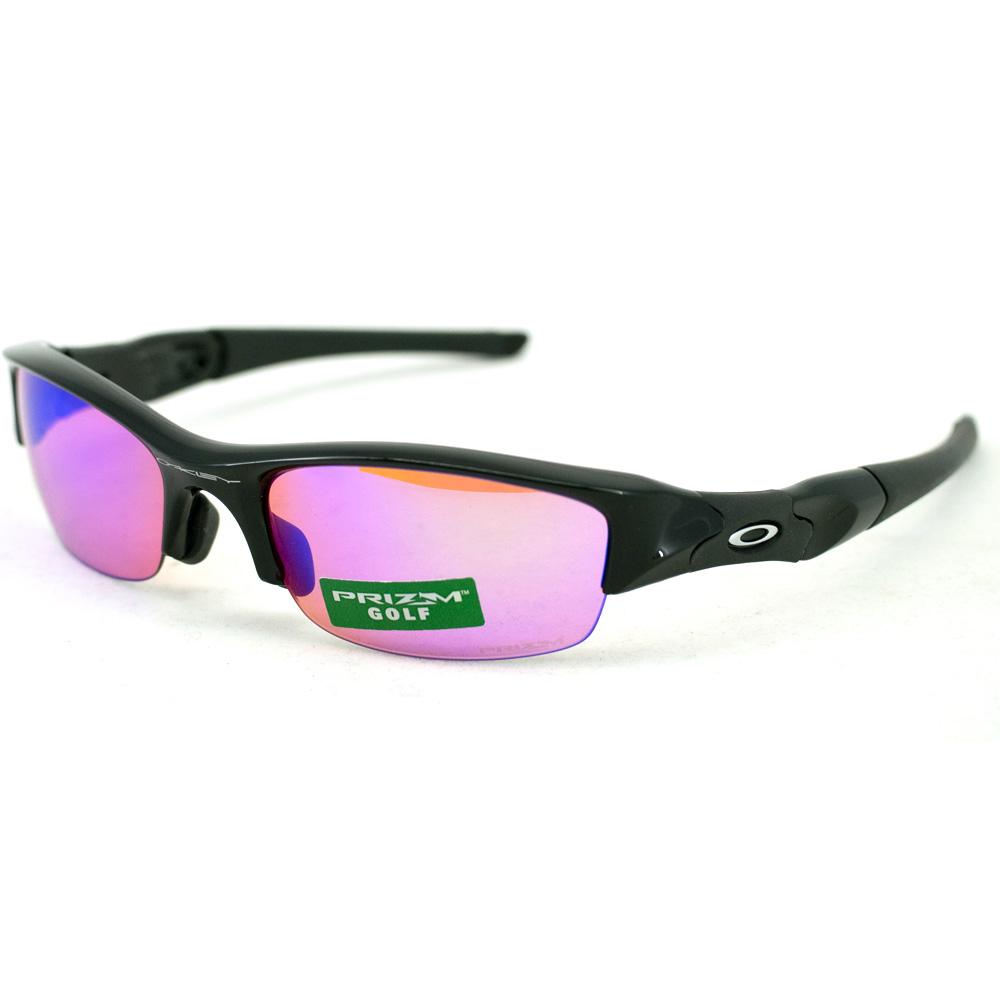 Oakley Flak Jacket (Asian fit) : Polished Black / Prizm Golf lens