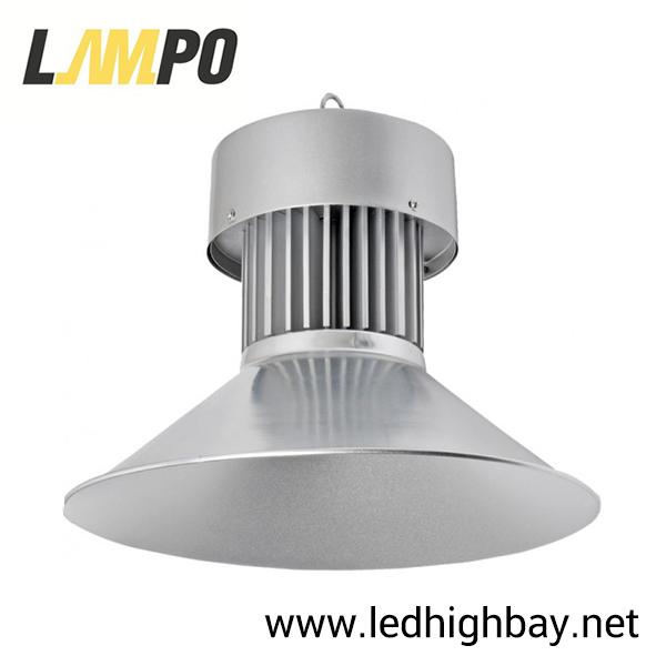 โคมไฮเบย์ LED 50w ยี่ห้อ LAMPO รุ่น ECO MODEL (แสงส้ม)