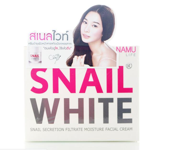 Snail White Cream (ขนาด 5 กรัม) : บำรุงและฟื้นฟูสภาพผิวให้เรียบเนียนใส ลดฝ้า กระ ลอยสิวให้จางลง