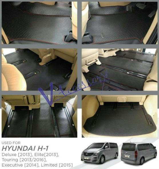 พรมยางลายกระดุมแบบรีดขอบ เกรดพรีเมี่ยม สำหรับ HYUNDAI H-1 2013-2016