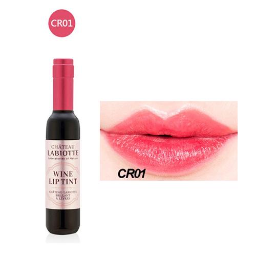Wine Lip Tint Set ลิปทินท์ขวดไวน์ ดีไซน์หรู สีติดทนนาน CR01