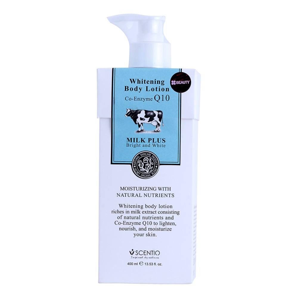 Scentio Milk Plus Body Lotion (400 มิลลิลิตร) โลชั่นน้ำนมบำรุงผิวขาว
