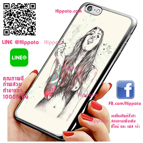 เคส ไอโฟน 6 / เคส ไอโฟน 6s หญิงเปลือย สูบบุหรี่ เท่ เคสสวย เคสโทรศัพท์ #1205