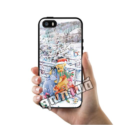 เคส ซัมซุง iPhone 5 5s SE หมีพูห์ อิยอ ฤดูหนาว เคสน่ารักๆ เคสโทรศัพท์ เคสมือถือ #1250
